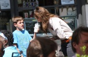 Charisma Carpenter - Out & about with son at The Grove, LA, May 12, 2012