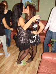 Girls In Pantyhose Kissing