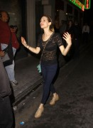 Lyndsy Fonseca see thru to bra at Sayers Nightclub in Hollywood 6/7/12